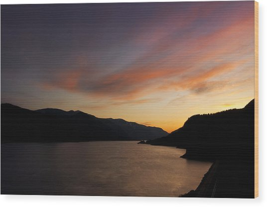 Sunset From Tunnel 6 Wood Print