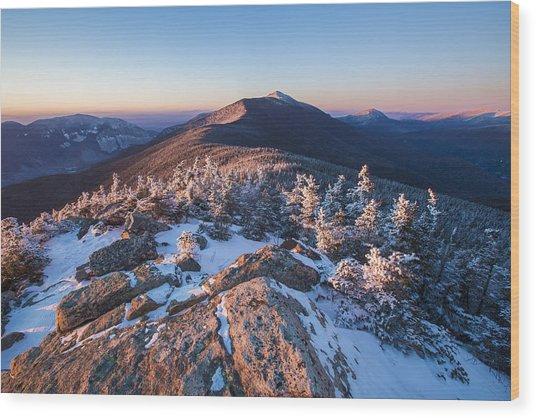 Sunset Glow On Franconia Ridge Wood Print