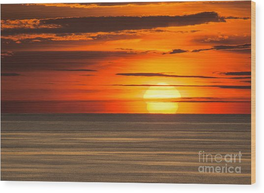 Sunset In Bermuda Wood Print