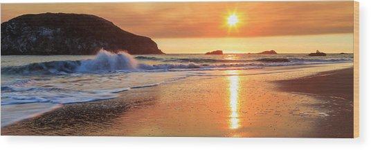 Sunset In Brookings Wood Print