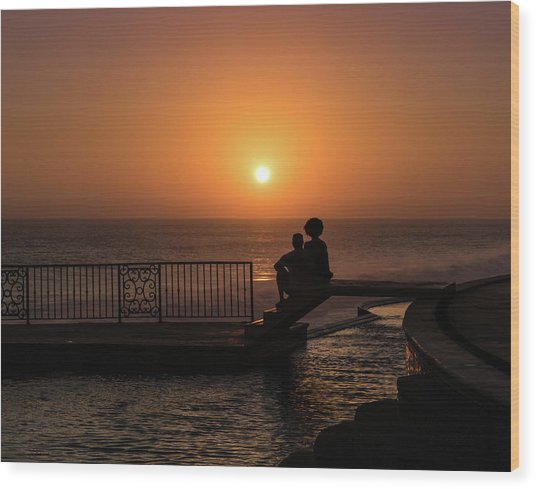 Sunset In Cerritos Wood Print