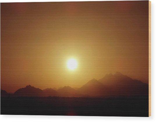 Sunset In Egypt 7 Wood Print