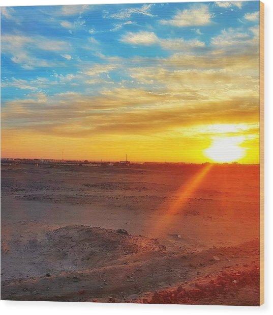 Sunset In Egypt Wood Print