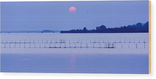 Sunset In Laguna Wood Print