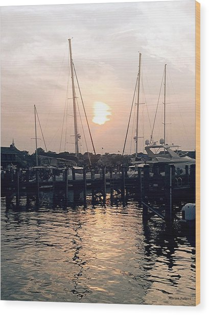 Sunset In Nantucket Wood Print