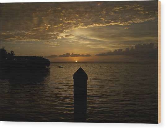 Sunset In Paradise Wood Print by Christin Walton
