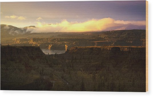 Sunset In Rowena Wood Print
