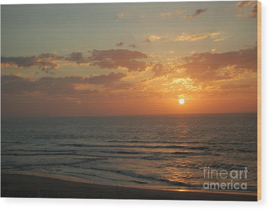 Sunset In Santa Cruz Wood Print