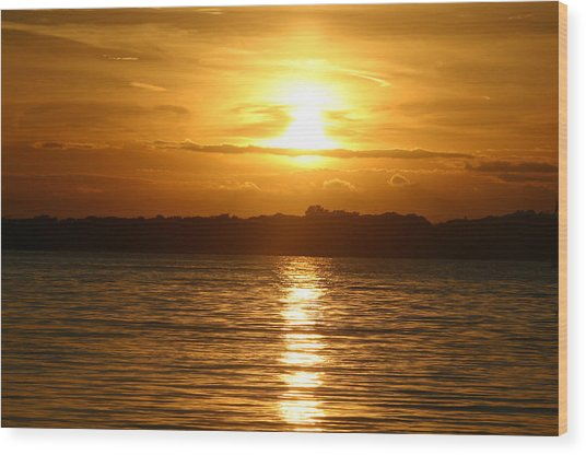 Sunset In Shelter Island  Wood Print by Matthew Kennedy