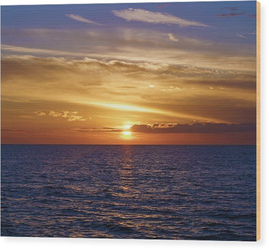 Sunset In Sw Florida Wood Print