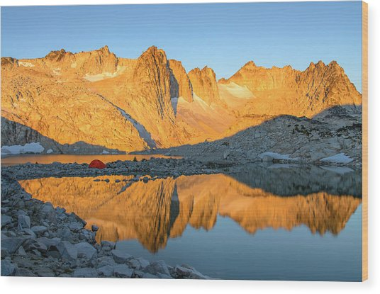 Sunset In The Enchantments Wood Print