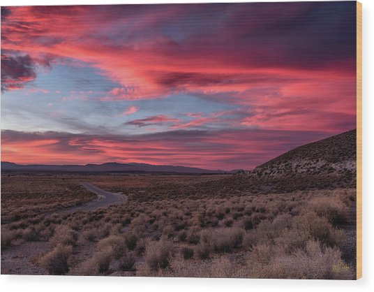 Wood Print featuring the photograph Sunset In The Owens River Valley by Stuart Gordon