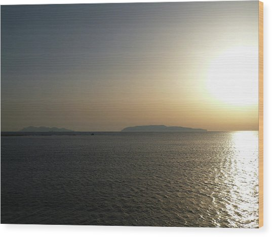 Sunset In Trapani Wood Print
