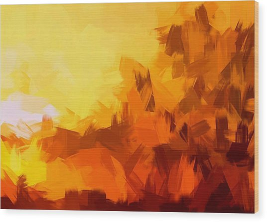 Sunset In Valhalla Wood Print