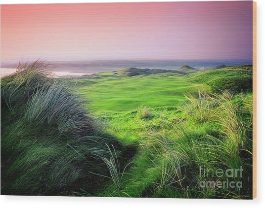 Sunset - Lahinch Wood Print