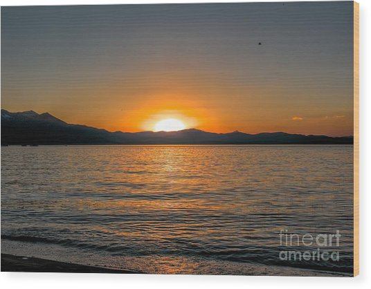 Sunset Lake 3 Wood Print