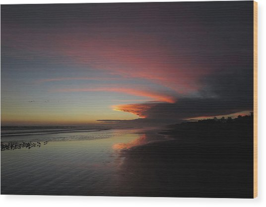 Sunset Las Lajas Wood Print