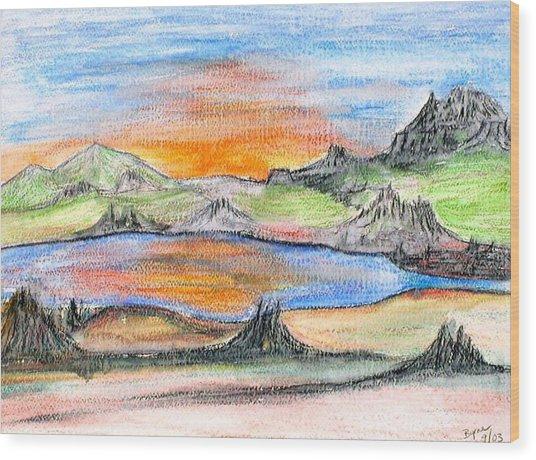 Sunset Wood Print by Margie  Byrne