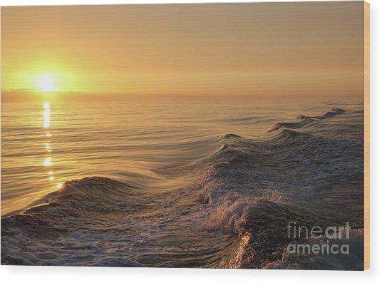 Sunset Meets Wake Wood Print