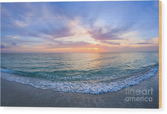 Sunset Naples Fl Wood Print