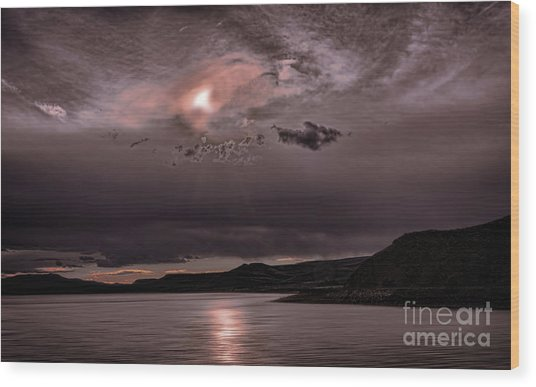 Sunset Near Crested Butte Wood Print