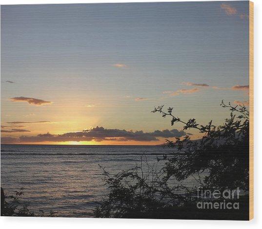 Sunset Off Lipoa Wood Print