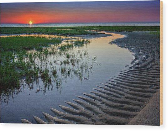 Sunset On Cape Cod Wood Print