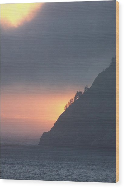 Sunset On Cape Lookout Wood Print