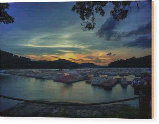 Sunset On Cheat Lake Wood Print