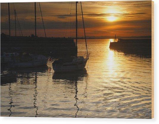 Sunset On Fisherrow Wood Print by Nik Watt