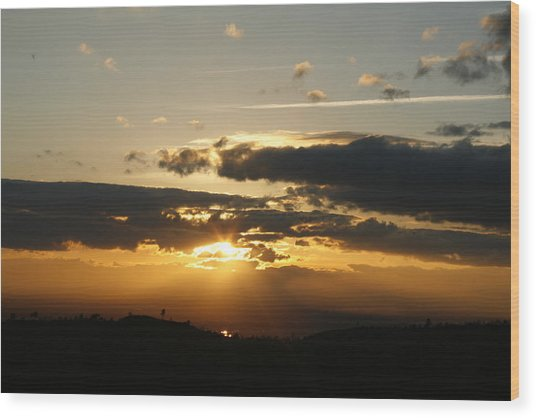 Sunset On Hwy 32 Wood Print
