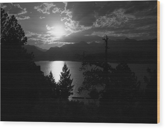 Sunset On Lake Estes Wood Print by Perspective Imagery