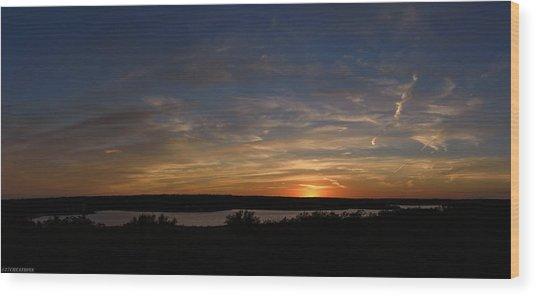 Sunset On Lake Georgetown Wood Print