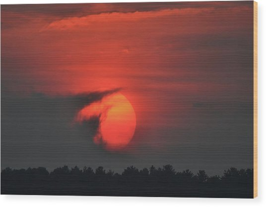 Sunset On Plum Island Wood Print
