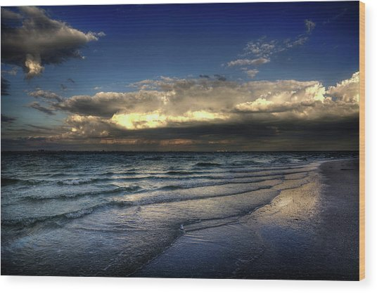 Sunset On Sanibel Wood Print