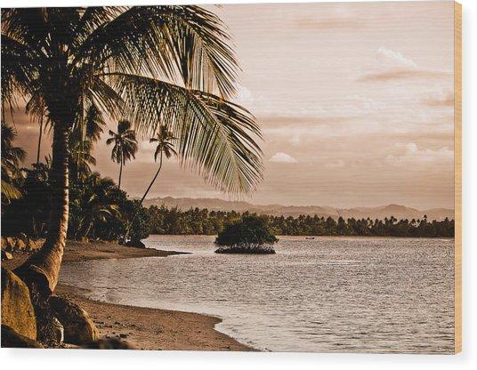 Sunset On The Bay 2 Wood Print by Mark Bradley