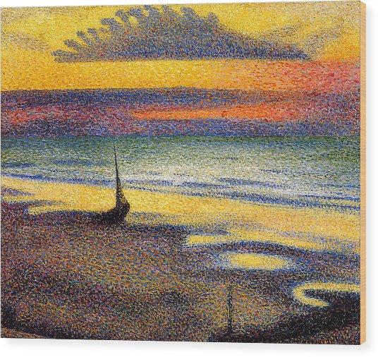 Sunset On The Beach 1891 Wood Print