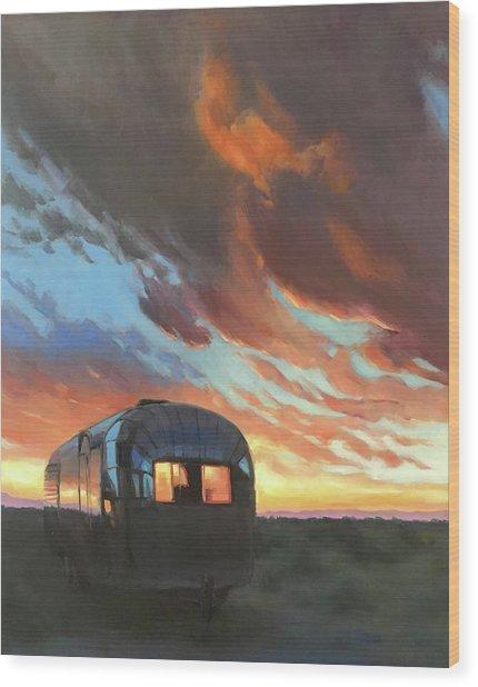 Sunset On The Mesa Wood Print