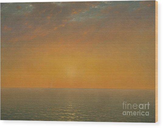 Sunset On The Sea, 1872 Wood Print