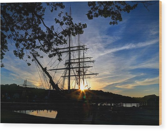 Sunset On The Whalers Wood Print
