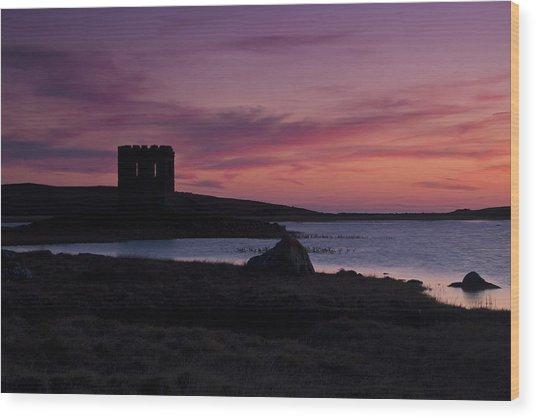 Sunset On Uist Wood Print by Gabor Pozsgai