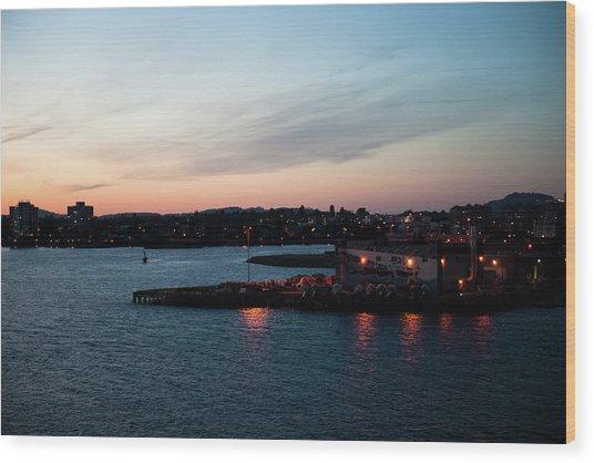 Sunset Over Alaska Wood Print