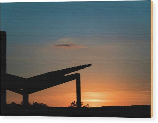 Sunset Over Austin City Limits Festival Week One 2017 Wood Print
