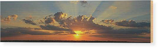 Sunset Over Austin Wood Print
