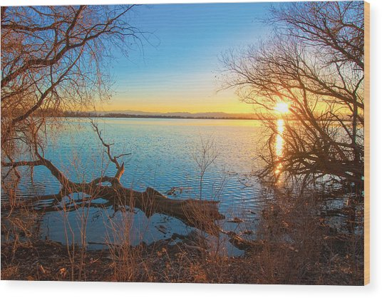 Sunset Over Barr Lake Wood Print