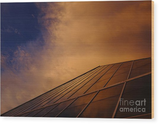Wood Print featuring the photograph Sunset Over Bass Pro Shop In Memphis Tennessee by T Lowry Wilson