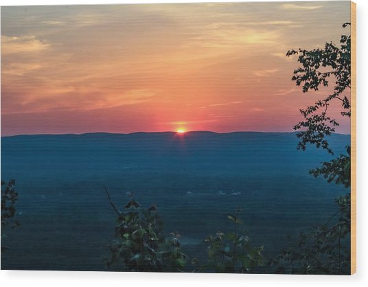 Sunset Over Easthampton Wood Print