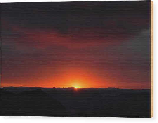 Sunset Over Grand Canyon Wood Print