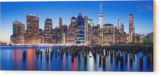 Magic Manhattan Wood Print