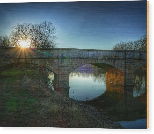 Sunset Over Monocacy Wood Print